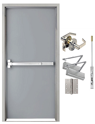 hollow metal door frames & hardware