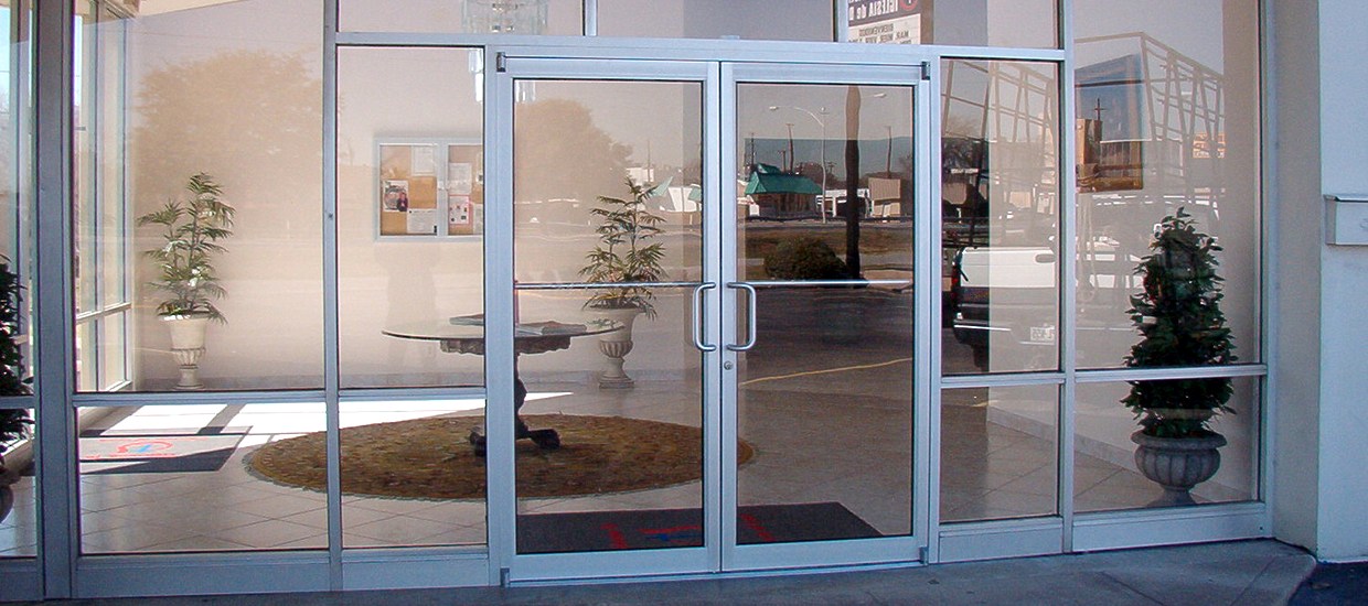 traditional commercial door front